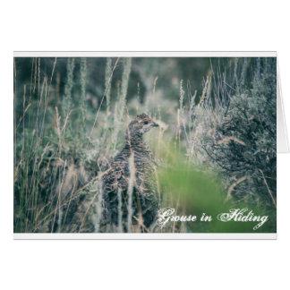 隠れることのライチョウ グリーティングカード