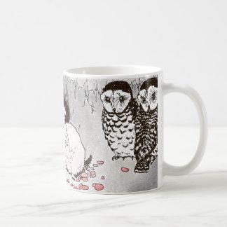 隠れ穴のプレーリードッグそしてフクロウ コーヒーマグカップ