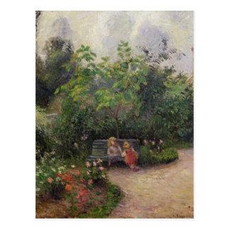 隠者の住処のカミーユ・ピサロ の庭 ポストカード