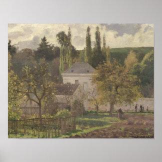 隠者の住処の家、Pontoise 1873年 ポスター