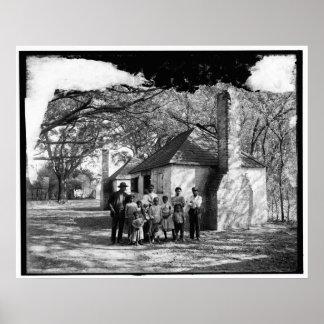 隠者の住処の黒い家族、サバンナ、Ga。 c1907 ポスター