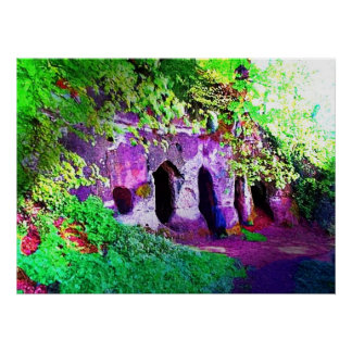 隠者の洞窟、ダービーシャー ポスター