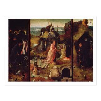 隠者(パネルの油)の祭壇の背後の飾り ポストカード