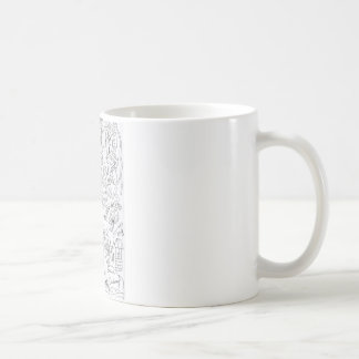 隣人の落書き コーヒーマグカップ