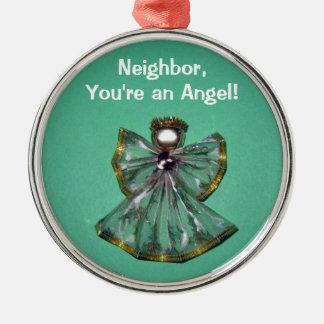 隣人、あなたは天使! シルバーカラー丸型オーナメント