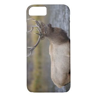 雄牛のオオシカの交差の川、イエローストーンNP、ワイオミング iPhone 8/7ケース