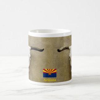 雄牛のスカルアリゾナ コーヒーマグカップ