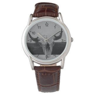 雄牛のスカル 腕時計