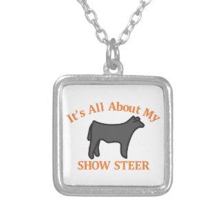 雄牛を示して下さい シルバープレートネックレス