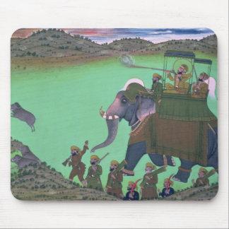 雄豚の狩りのUdaipurの支配者Sarup Singh、 マウスパッド