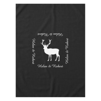 雄鹿パーティ-雄鹿のエレガントなスケッチ テーブルクロス
