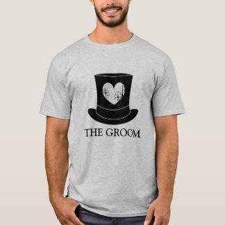 雄鹿夜バチュラーパーティのための新郎のTシャツ Tシャツ