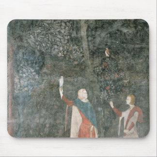 、雄鹿部屋から、咳払いで出している紳士1343年 マウスパッド