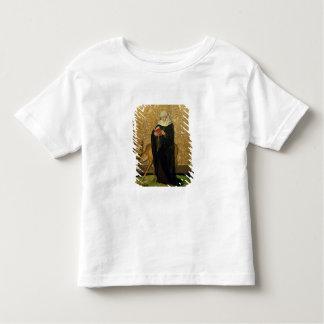 雄鹿(パネルの油)を持つ女性の聖者 トドラーTシャツ