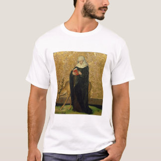 雄鹿(パネルの油)を持つ女性の聖者 Tシャツ