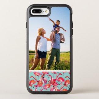 集まる写真の水彩画のフラミンゴ オッターボックスシンメトリーiPhone 8 PLUS/7 PLUSケース