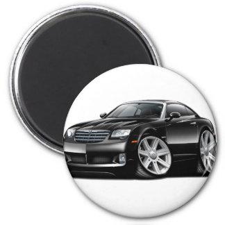 集中砲火の黒い車 マグネット