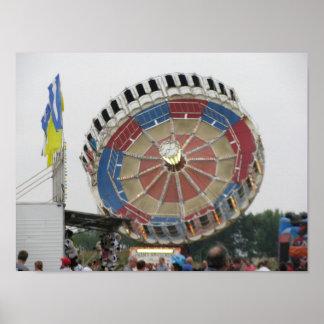 集合の遊園地の乗車 ポスター