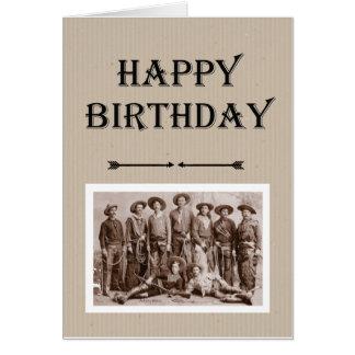 集団のヴィンテージのカウボーイのおもしろいからの誕生日 カード