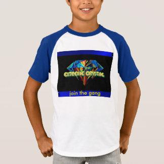 集団の極度な水晶v首の子供のTシャツを結合して下さい Tシャツ