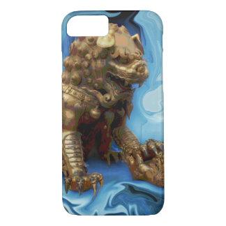 雌ジシのロイヤリティの幸運なレオの占星術の中国人のライオン iPhone 8/7ケース