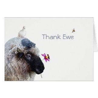 雌ヒツジを感謝していして下さい: お洒落なカード カード
