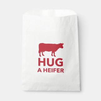 雌牛のおもしろいな酪農場を抱き締めて下さい フェイバーバッグ