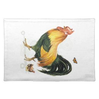 雌鶏および鶏を持つ誇りを持ったなオンドリ ランチョンマット