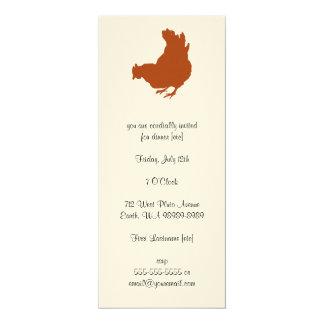 雌鶏[鶏、農家、オーガニックな卵] カード