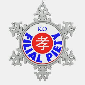 雑種の敬愛- Ko スノーフレークピューターオーナメント