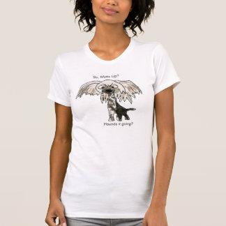 雑種犬か。 頂点に達された中国のな漫画犬のTシャツ Tシャツ