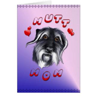 雑種犬のお母さんカード グリーティングカード