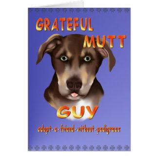 雑種犬のパパカード グリーティングカード