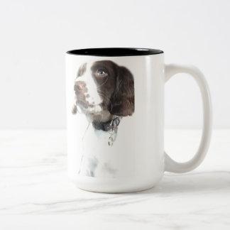 雑種犬のマグ ツートーンマグカップ