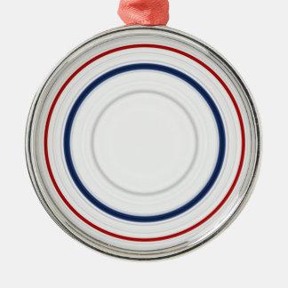 雑色の円の愛国心が強い米国色 メタルオーナメント