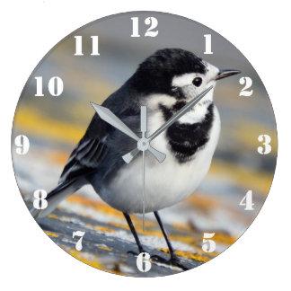 雑色のWagtailの時計 ラージ壁時計