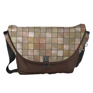 雑色ベージュタイルパターン メッセンジャーバッグ