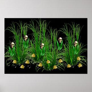 雑草のスカル ポスター
