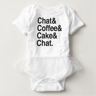 雑談およびコーヒーおよびケーキ ベビーボディスーツ