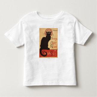 雑談のNoirキャバレーの一団の黒猫の広告宣伝ポスター トドラーTシャツ