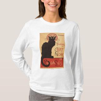 雑談のNoirキャバレーの一団の黒猫の広告宣伝ポスター Tシャツ