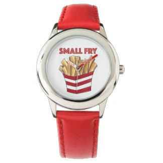 雑魚のファースト・フードのフライドポテトのグルメの子供の腕時計 腕時計