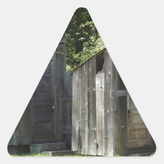 離れ家 三角形シール