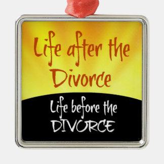離婚の後の生命 メタルオーナメント