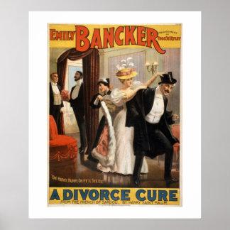 離婚の治療のヴィンテージの劇場ポスター ポスター
