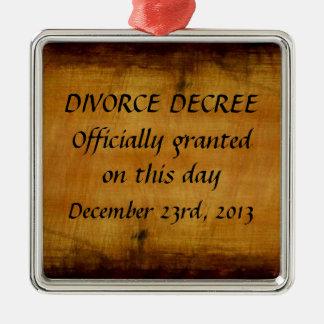 離婚の法令 メタルオーナメント