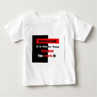 離婚の法律の衣類 ベビーTシャツ