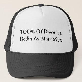 離婚の100%年は結婚として始まります キャップ