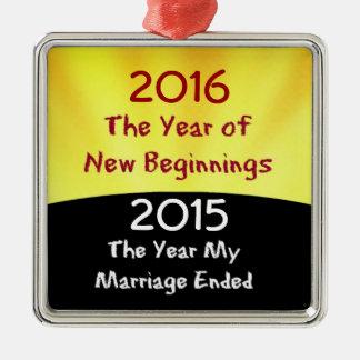 離婚を祝って下さい メタルオーナメント