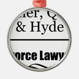 離婚専門の弁護士 メタルオーナメント